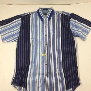 Vintage Chaps Ralph Lauren Stripped Button Shirt M